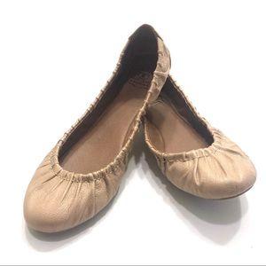 Lucky Brand 8.5 Ruched Ballerina Flats Rose Cream
